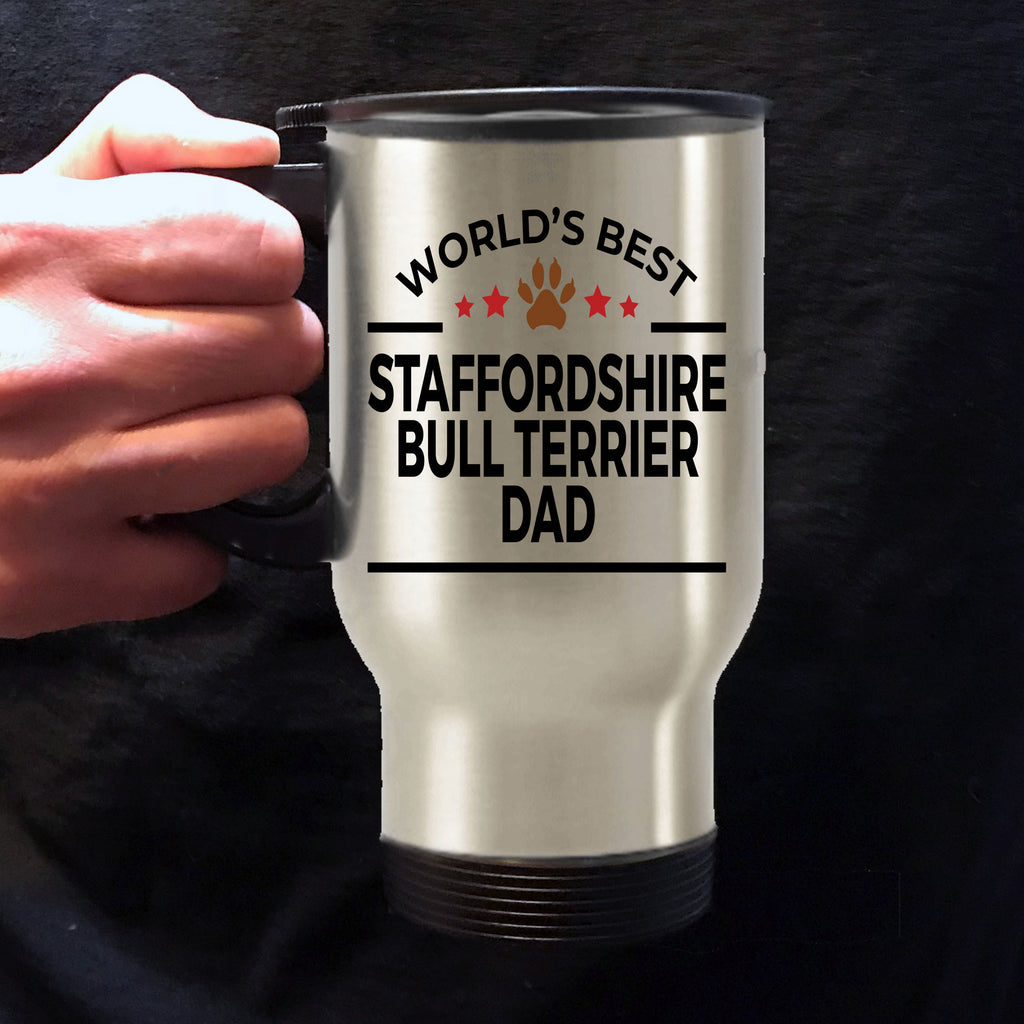 Staffordshire Bull Terrier Dog Dad Travel Coffee Mug