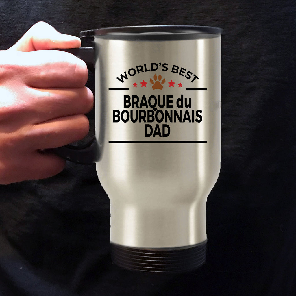 Braque du Bourbonnais Dog Dad Travel Coffee Mug