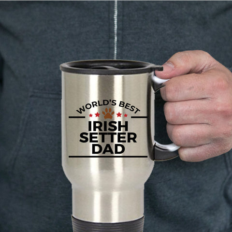 Irish Setter Dog Dad Travel Mug