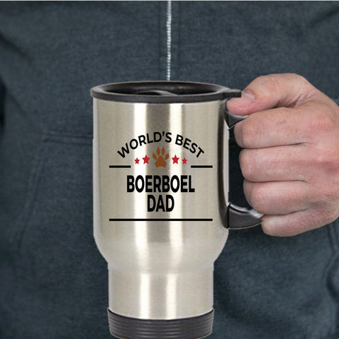 Boerboel Dog Lover Gift World's Best Dad Birthday Father's Day Stainless Steel Insulated Travel Coffee Mug