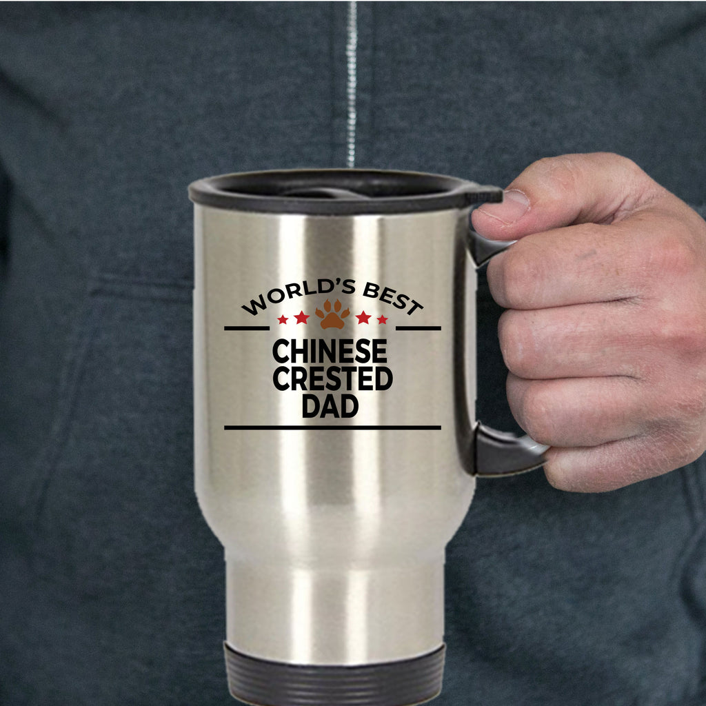 Chinese Crested Dog Dad Travel Coffee Mug