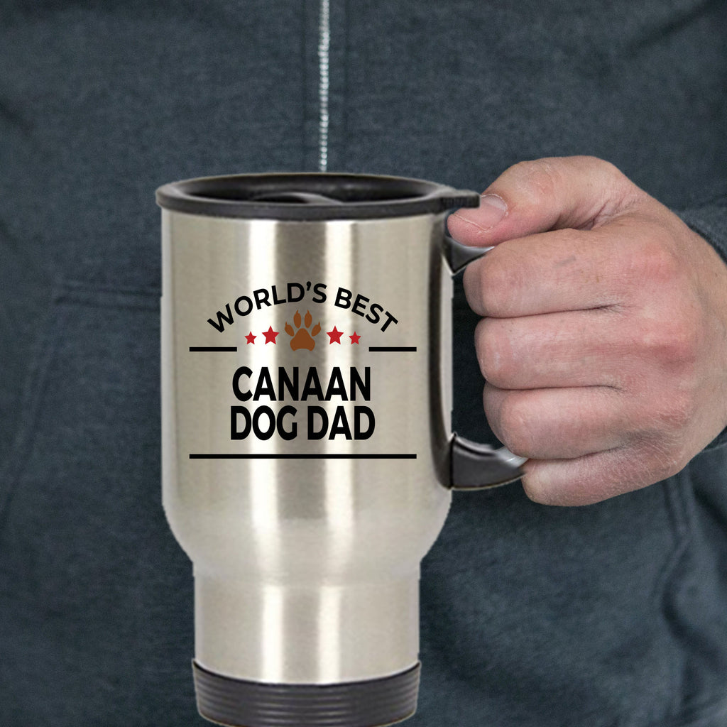 Canaan Dog Dad Travel Coffee Mug
