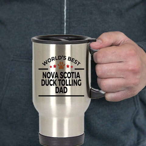 Nova Scotia Duck Tolling Dog Dad Travel Coffee Mug