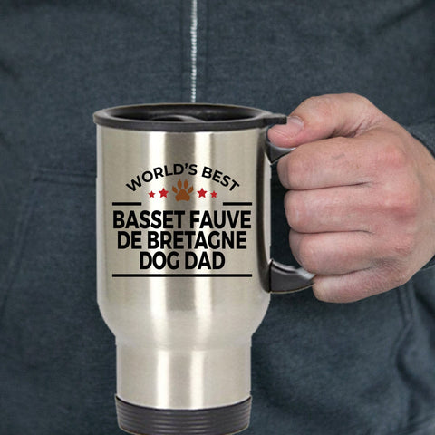 Basset Fauve de Bretagne Dog Dad Travel Coffee Mug