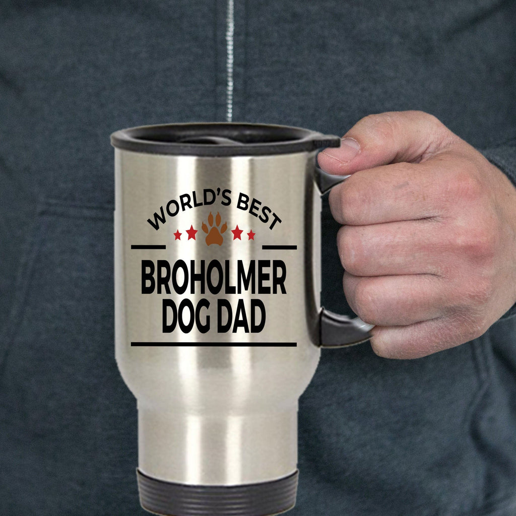 Broholmer Dog Dad Travel Coffee Mug