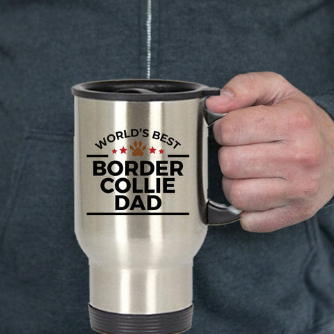 Border Collie Dog Dad Travel Coffee Mug