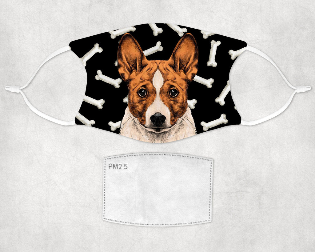 Basenji Dog Face Mask Child and Adult sizes made in USA
