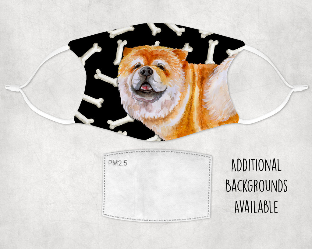 Chow Chow dog non-medical Face Cover made in USA