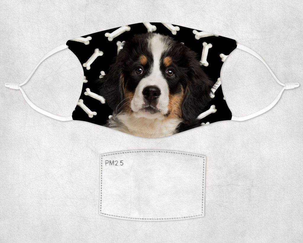 Bernese Mountain puppy Face Mask Child and Adult sizes made in USA