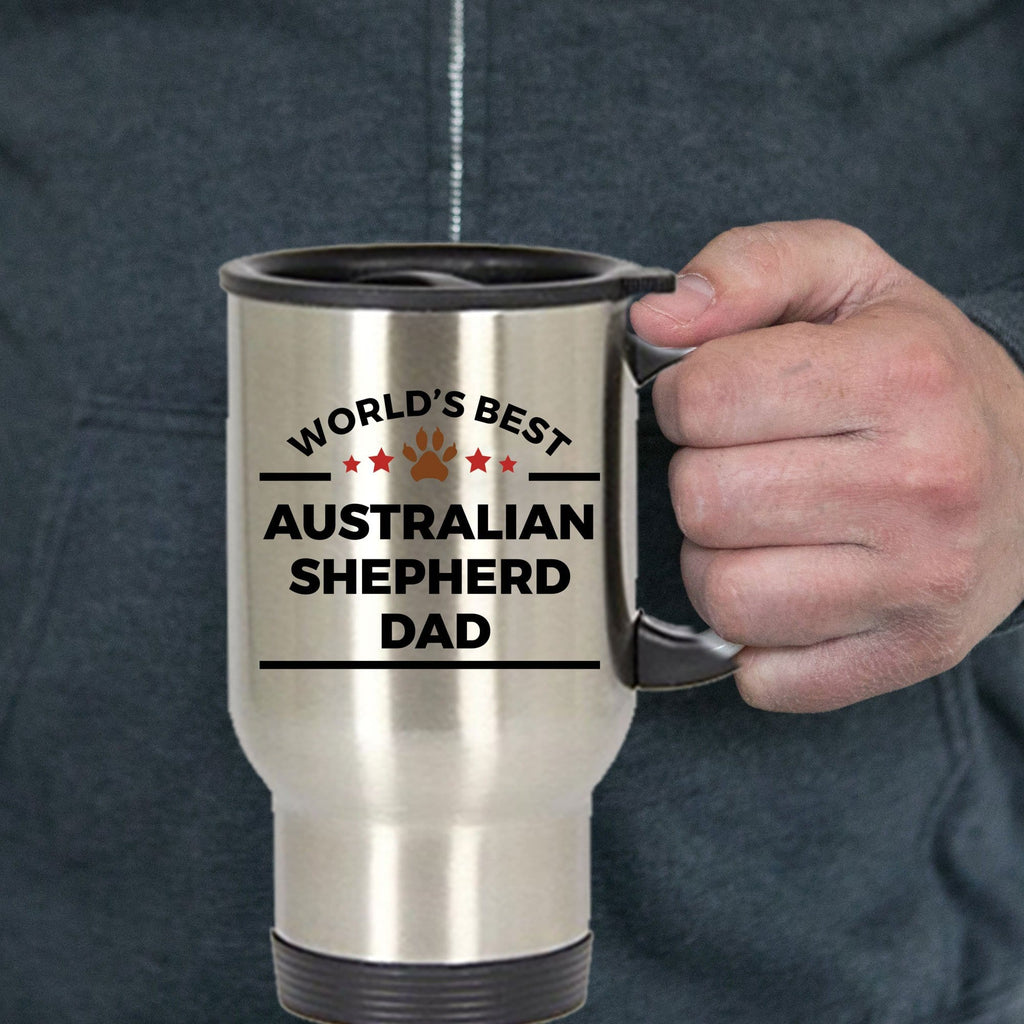 Australian Shepherd Dog Dad Travel Coffee Mug