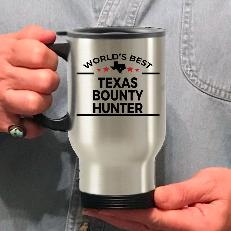 Texas Bounty Hunter Gift Birthday Father's Day Stainless Steel Insulated Travel Coffee Mug