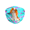 Cavalier King Charles Spaniel Dog Mint Floral Sublimation Face Mask