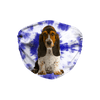 Basset Hound Puppy Blue Tie Dyed Sublimation Face Mask