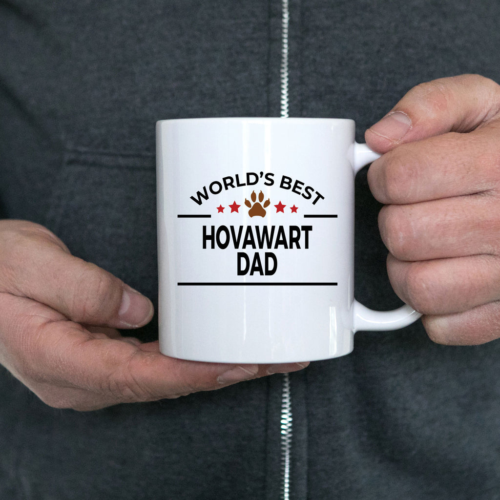 Hovawart Dog Lover Gift World's Best Dad Birthday Father's Day White Ceramic Coffee Mug