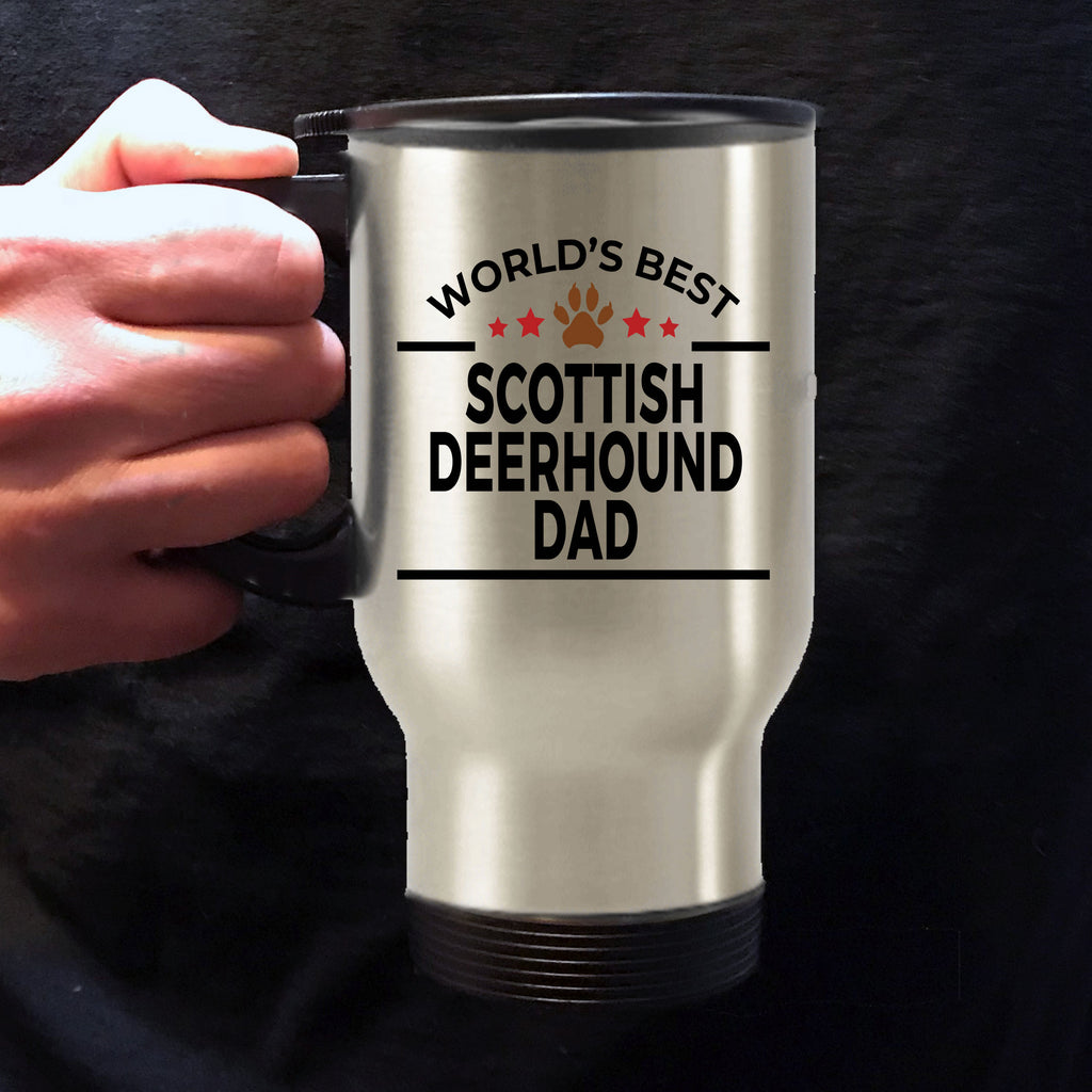 Scottish Deerhound Dog Dad Travel Coffee Mug