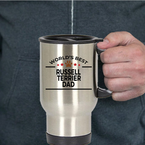 Russell Terrier Dog Lover Dad Travel Mug