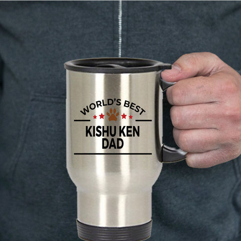 Kishu Ken Dog Dad Travel Mug