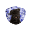 Bouvier des Flandres Blue Tie Dye Sublimation Face Mask