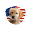 Golden Retriever Puppy USA Flag Sublimation Face Mask