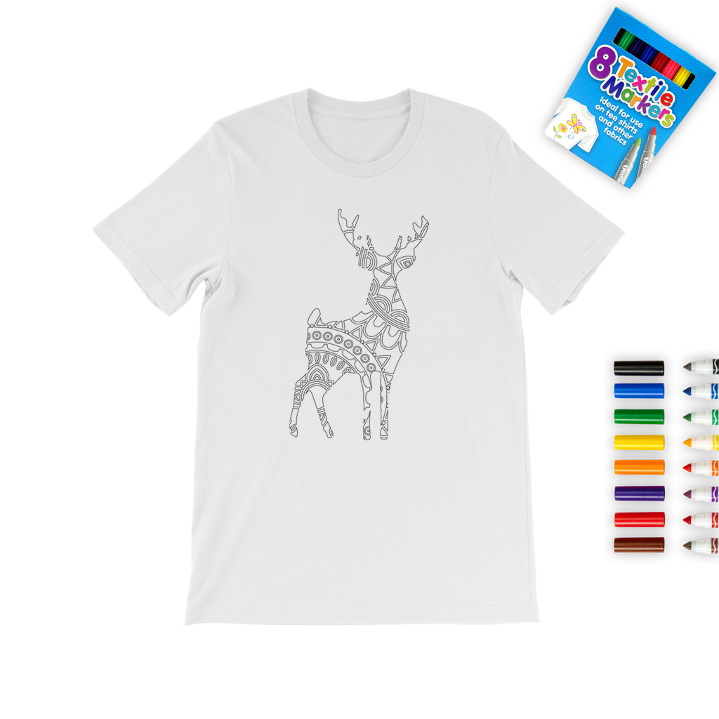 Deer Mandala Coloring T-Shirt
