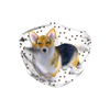 Pembroke Corgi Dog Paw Print Sublimation Face Mask