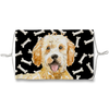Goldendoodle Dog dark bones Sublimation Face Mask