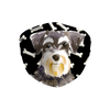 Miniature Schnauzer Dog Dark Bones Sublimation non-medical Face Mask