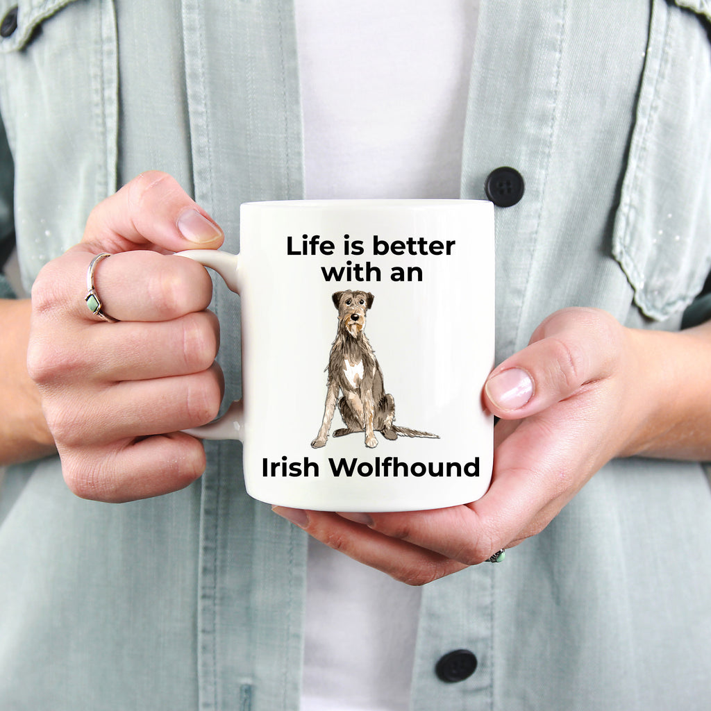Irish Wolfhound Coffee Mug - Life is better