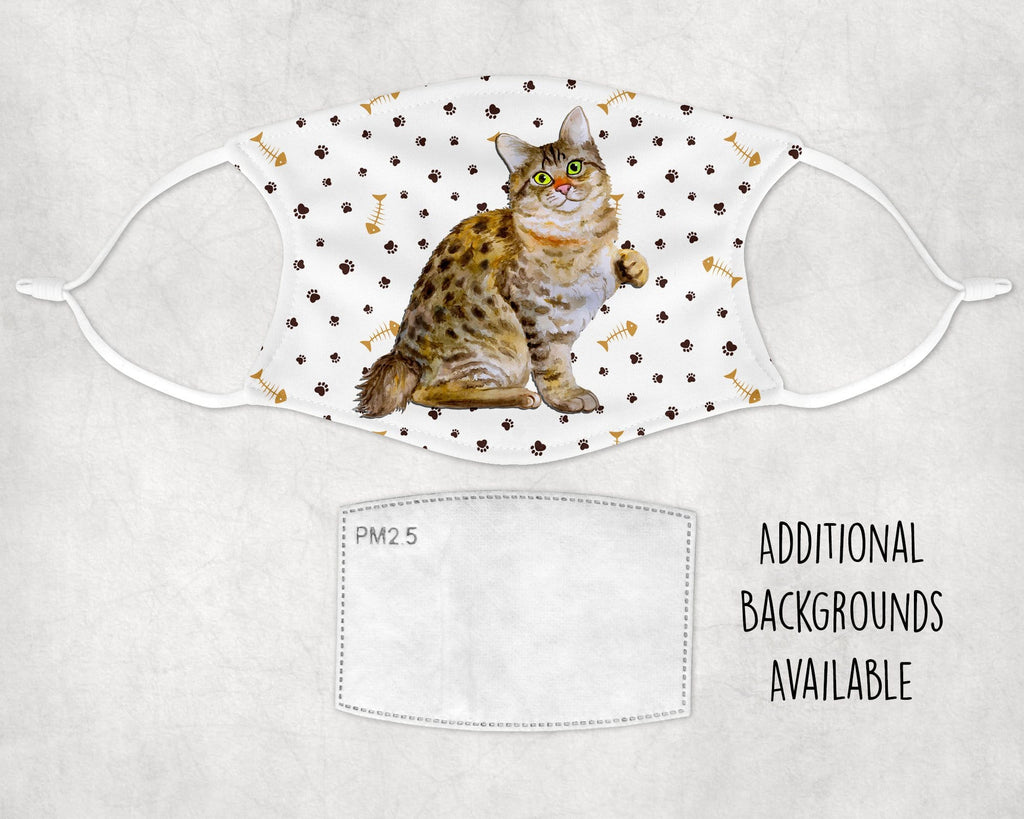 American Bobtail Cat face mask