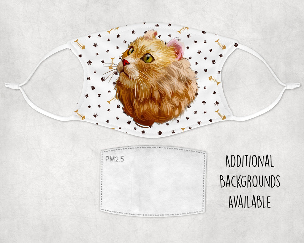 American Curl Cat non-medical Face Mask made in USA