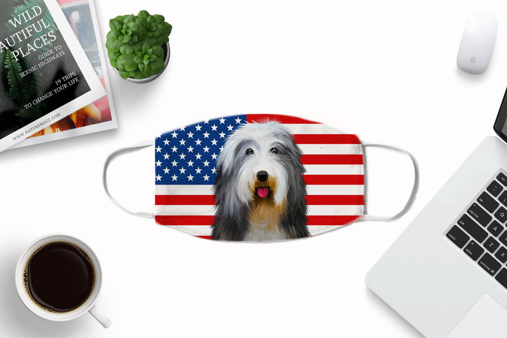 Bearded Collie Face Cover - Reusable, Washable with carbon filter