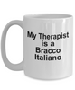 Bracco Italiano Dog Owner Lover Funny Gift Therapist White Ceramic Coffee Mug