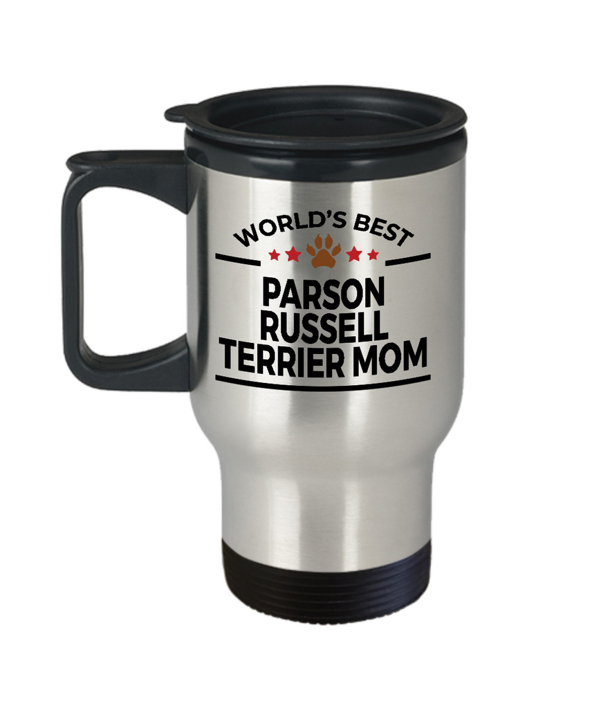 Parson Russell Terrier Dog Lover Gift World's Best Mom Birthday Mother's Day Stainless Steel Insulated Travel Coffee Mug