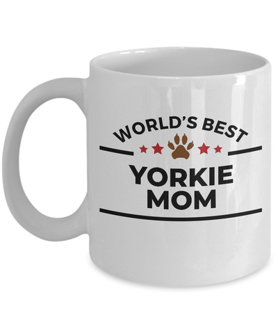 Yorkshire Terrier Dog Lover Gift World's Best Yorkie Mom Ceramic Coffee Mug