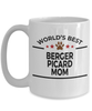 Berger Picard Dog Lover Gift World's Best Mom Birthday Mother's Day White Ceramic Coffee Mug
