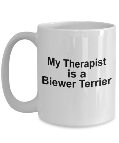 Biewer Terrier  Dog Owner Lover Funny Gift Therapist White Ceramic Coffee Mug