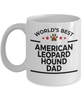 American Leopard Hound Dog Lover Gift World's Best Dad Birthday Father's Day White Ceramic Coffee Mug