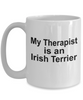 Irish Terrier Dog Owner Lover Funny Gift Therapist White Ceramic Coffee Mug