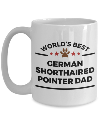 German Shorthaired Pointer Dog Lover Gift World's Best Dad Birthday Father's Day Ceramic Coffee Mug
