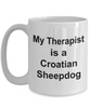 Croatian Sheepdog Dog Therapist Owner Lover Funny Gift White Ceramic Coffee Mug