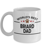 Briard Dog Lover Gift World's Best Dad Birthday Father's Day White Ceramic Coffee Mug