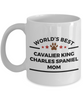 Cavalier King Charles Spaniel Dog Lover Coffee Mug World's Best Mom Gift for Mother's Day or Birthday