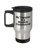 Bluetick Coonhound Dog Lover Owner Funny Gift Therapist Stainless Steel Insulated Travel Coffee Mug