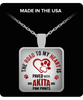 The Road To My Heart Is Paved With Akita Paw Prints Square Pendant Necklace