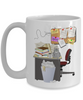 Cluttered Office Desk Golf Theme Mug