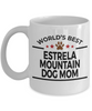 Estrela Mountain Dog Lover Gift World's Best Mom Birthday Mother's Day White Ceramic Coffee Mug