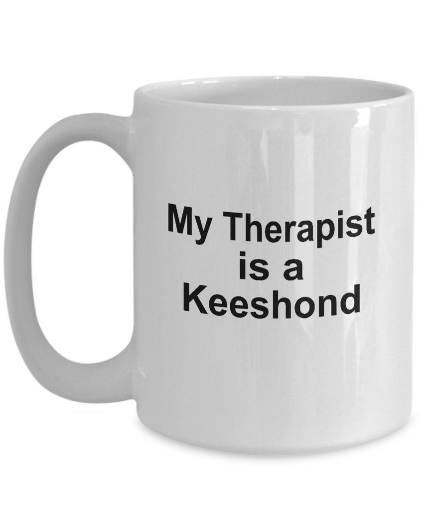 Keeshond Dog Owner Lover Funny Gift Therapist White Ceramic Coffee Mug
