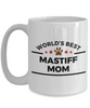 Mastiff Dog Lover Mug Gift World's Best Mom Coffee Cup Birthday Mother's Day