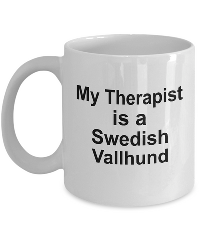 Swedish Vallhund Dog Therapist Owner Lover Funny Gift White Ceramic Coffee Mug