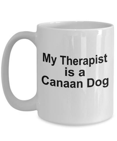 Canaan Dog Owner Lover Funny Gift Therapist White Ceramic Coffee Mug